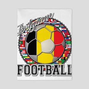 Belgium Flag World Cup Footba Twin Duvet