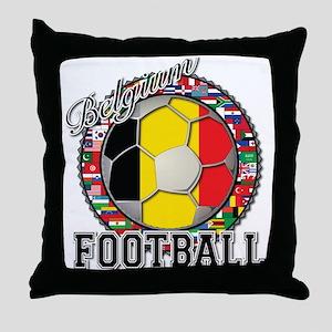 Belgium Flag World Cup Footba Throw Pillow