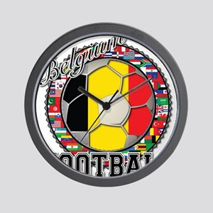 Belgium Flag World Cup Footba Wall Clock