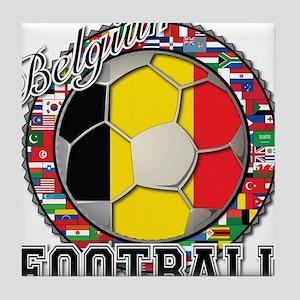 Belgium Flag World Cup Footba Tile Coaster