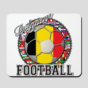 Belgium Flag World Cup Footba Mousepad