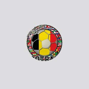 Belgium Flag World Cup Footba Mini Button