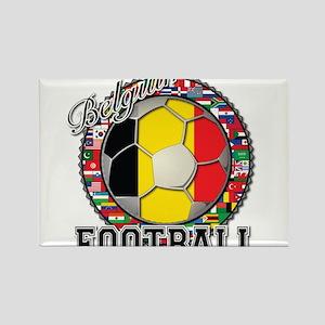 Belgium Flag World Cup Footba Rectangle Magnet
