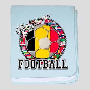 Belgium Flag World Cup Footba baby blanket