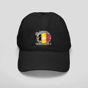 Belgium Flag World Cup Footba Black Cap