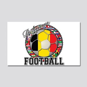 Belgium Flag World Cup Footba Car Magnet 20 x 12