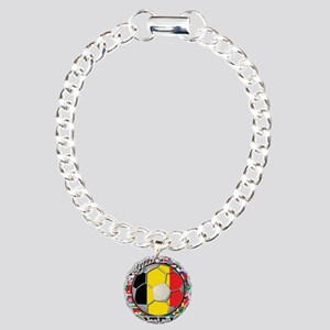 Belgium Flag World Cup Footba Charm Bracelet, One