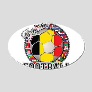 Belgium Flag World Cup Footba 22x14 Oval Wall Peel