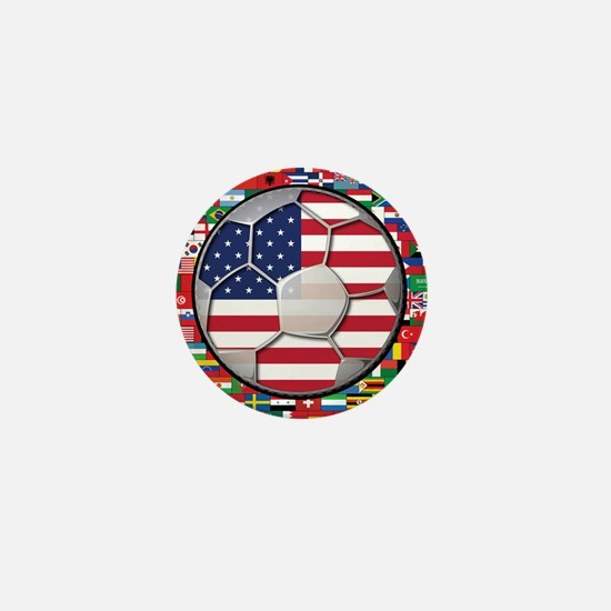 United States Flag World Cup Mini Button