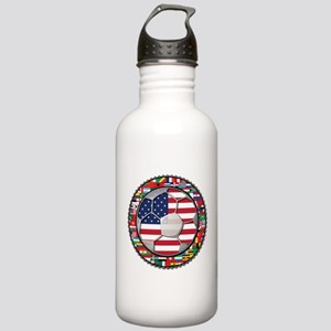 United States Flag World Cup Stainless Water Bottl