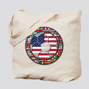 United States Flag World Cup Tote Bag