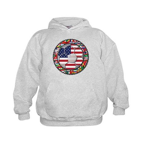 United States Flag World Cup Kids Hoodie