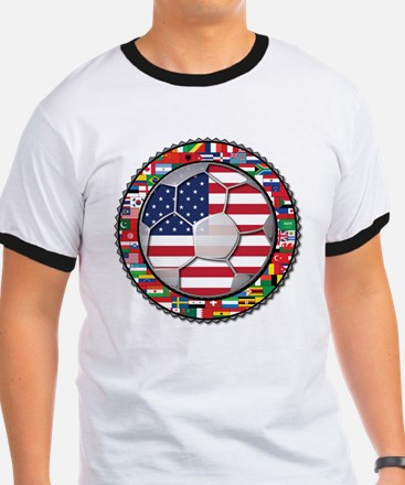 United States Flag World Cup T