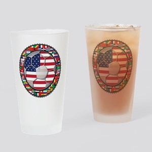 United States Flag World Cup Drinking Glass