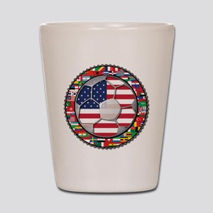 United States Flag World Cup Shot Glass