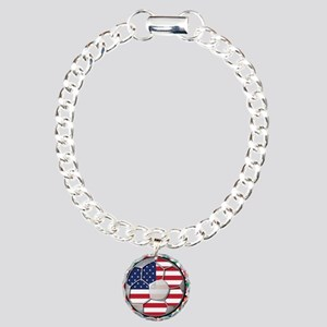 United States Flag World Cup Charm Bracelet, One C
