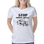 stop-animal-abuse-01 Women's Classic T-Shirt