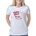 Girl Loves Mustache Women's Classic T-Shirt