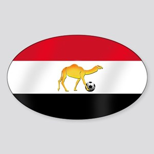 Egyptian Camel Flag Sticker (Oval)
