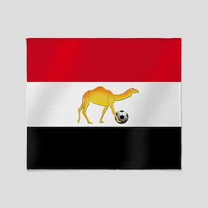 Egyptian Camel Flag Throw Blanket