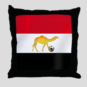 Egyptian Camel Flag Throw Pillow