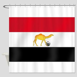 Egyptian Camel Flag Shower Curtain