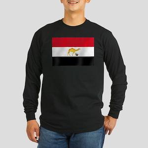 Egyptian Camel Flag Long Sleeve Dark T-Shirt