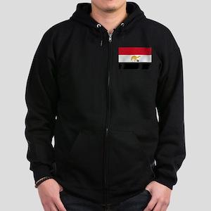 Egyptian Camel Flag Zip Hoodie (dark)