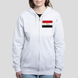 Egyptian Camel Flag Women's Zip Hoodie