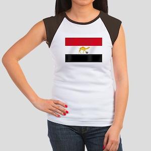 Egyptian Camel Flag Junior's Cap Sleeve T-Shirt