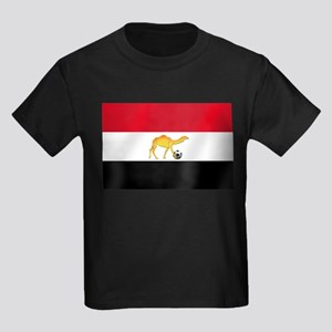 Egyptian Camel Flag Kids Dark T-Shirt