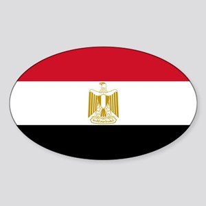 Flag of Egypt Sticker (Oval)