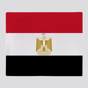 Flag of Egypt Throw Blanket