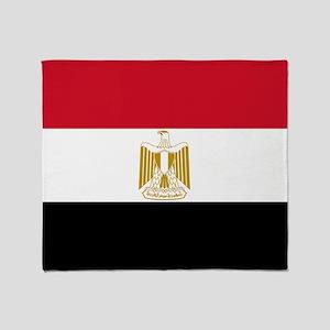 Flag of Egypt Throw Blanket
