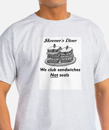 We club sandwiches not seals Ash Grey T-Shirt