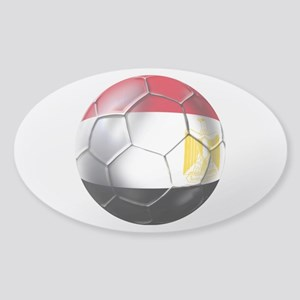Egyptian Soccer Ball Sticker (Oval)