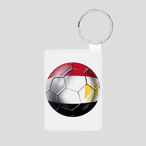 Egyptian Soccer Ball Aluminum Photo Keychain