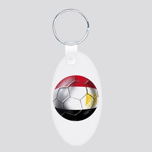 Egyptian Soccer Ball Aluminum Oval Keychain