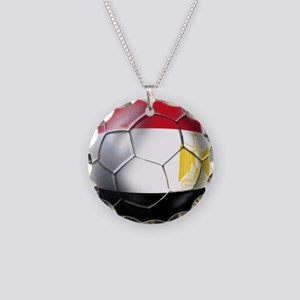 Egyptian Soccer Ball Necklace Circle Charm