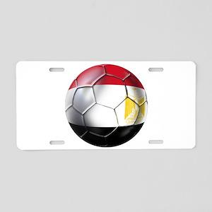 Egyptian Soccer Ball Aluminum License Plate