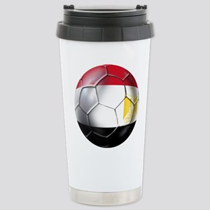 Egyptian Soccer Ball Stainless Steel Travel Mug