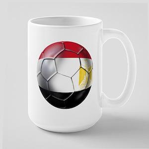 Egyptian Soccer Ball Large Mug