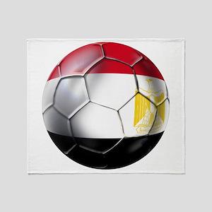 Egyptian Soccer Ball Throw Blanket