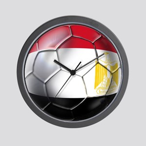 Egyptian Soccer Ball Wall Clock
