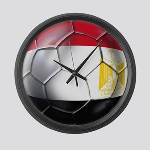 Egyptian Soccer Ball Large Wall Clock