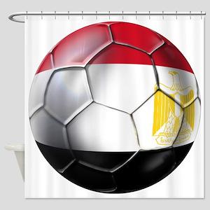 Egyptian Soccer Ball Shower Curtain