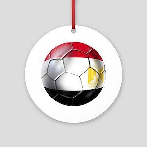 Egyptian Soccer Ball Ornament (Round)