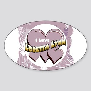I Love Loretta Lynn Sticker (Oval)