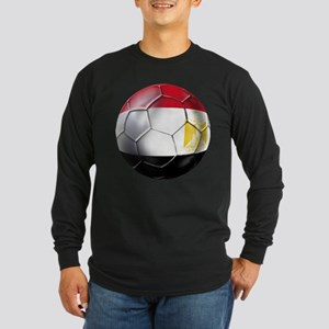 Egypt Soccer Ball Long Sleeve Dark T-Shirt