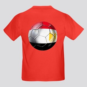 Egypt Soccer Ball Kids Dark T-Shirt